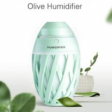 Blue Olive Humidifier With LED Night Light For Car Home And Office (Multi Color Lighting)